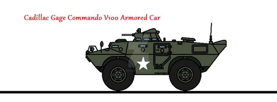 Cadillac Gage Commando V100 Armored Car By Thesketchydude13 On