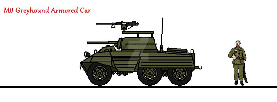 M8 Greyhound Armored Car by thesketchydude13 on DeviantArt