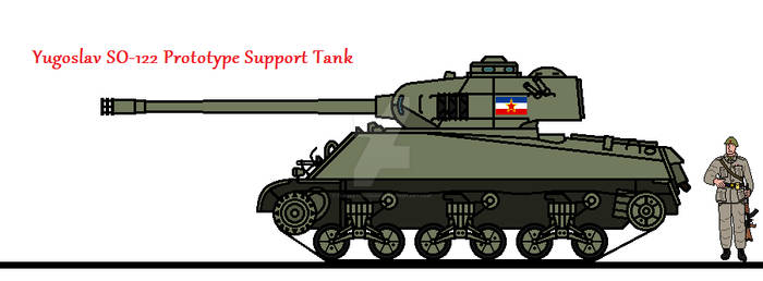 Yugoslav SO-122 Prototype Support Tank