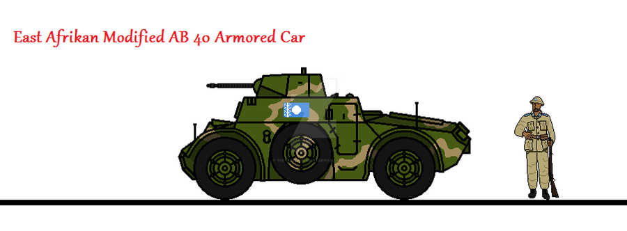 East Afrikan Modified AB 40 Armored Car by thesketchydude13
