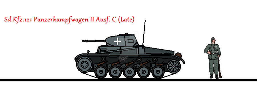 Sd.Kfz. 121 Panzerkampfwagen II Ausf. C (Late) by thesketchydude13