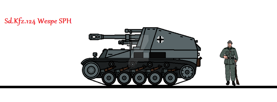 Sd.Kfz.124 Wespe SPH by thesketchydude13