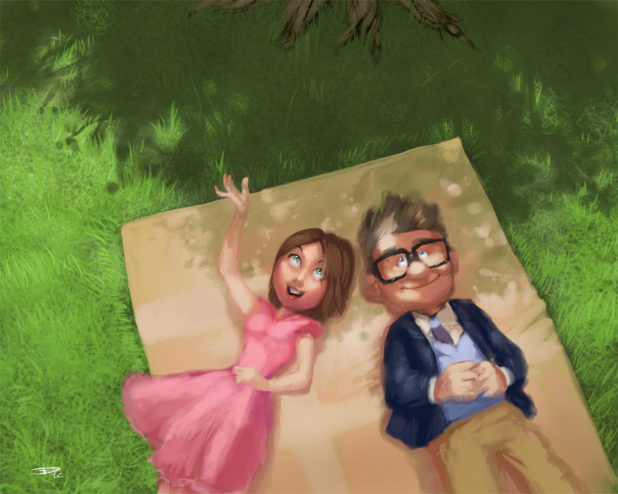 Pixar Up Carl And Ellie Drawing