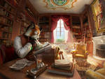 Victorian Library by PeppeTi