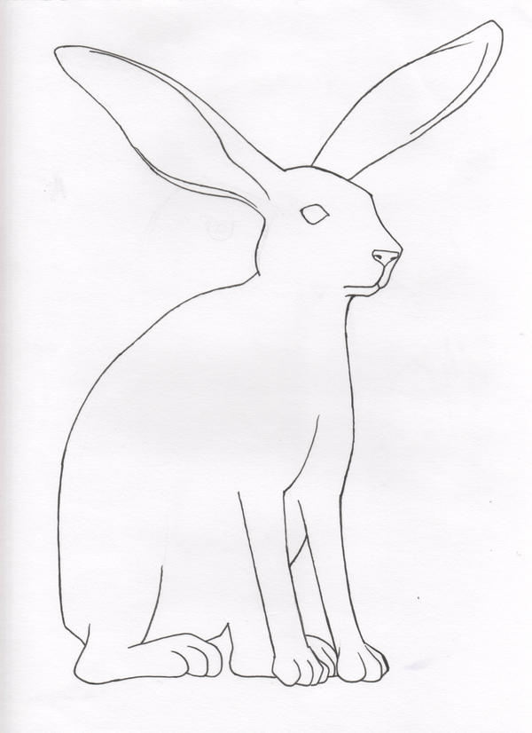 Coloring book 01 jack rabbit by kouriookami on deviantart for Jack rabbit coloring page