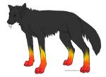 Ember The Flame-Pawed Wolf