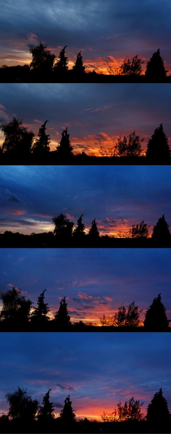 9th November 2015 Sunset - phases by Xaeyu