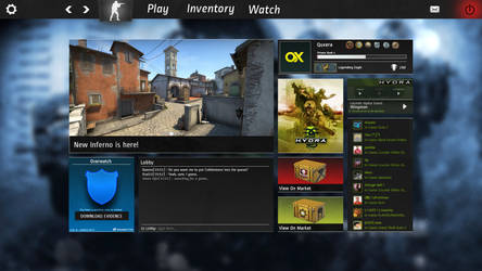 CS:GO Interface Redesign by firstQuxera