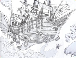 Steam pirate ship