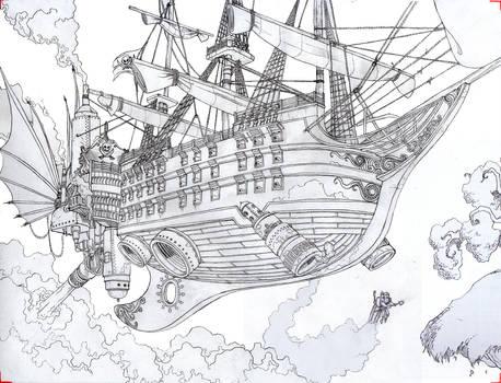 Steam pirate ship