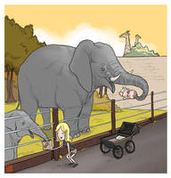 Elephants by Sheharzad-Arshad
