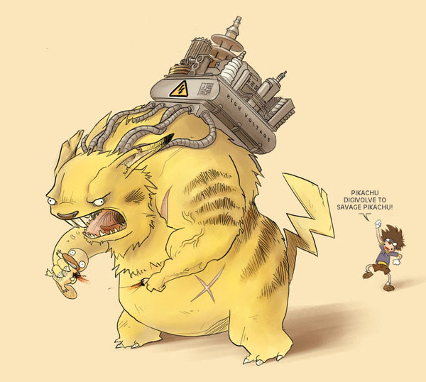 Pokemon digivolve by Sheharzad-Arshad
