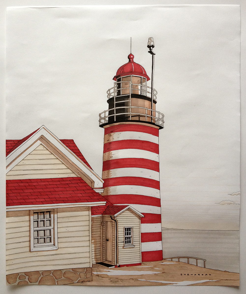 Lighthouse by Sheharzad-Arshad
