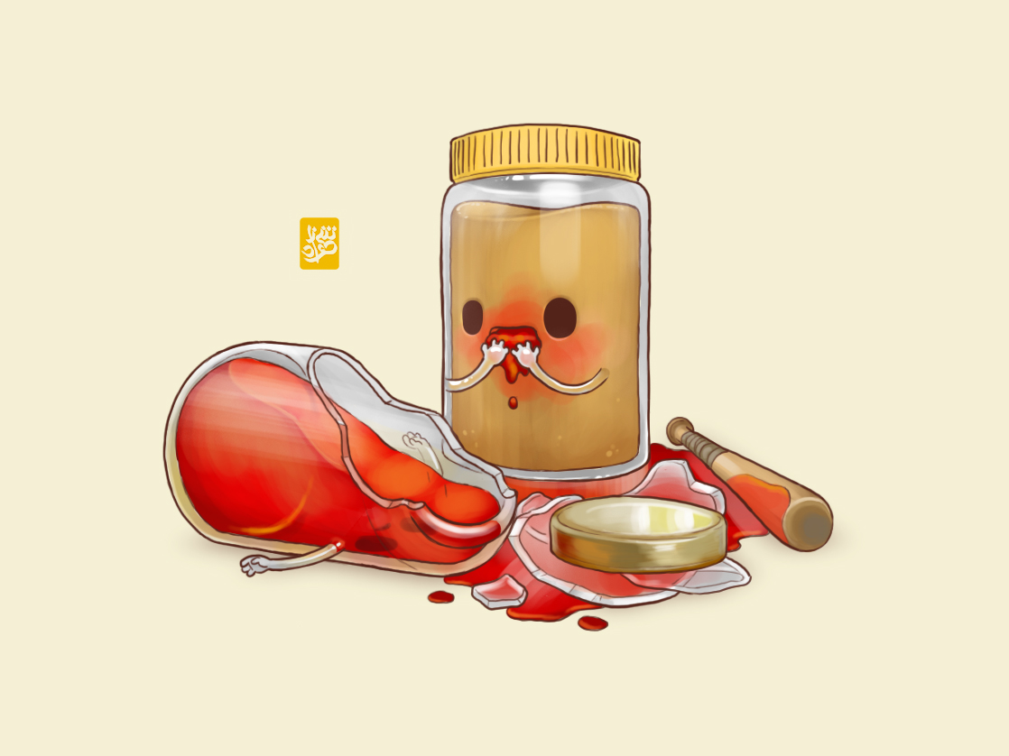 Peanut butter Jelly with a baseball bat by Sheharzad-Arshad