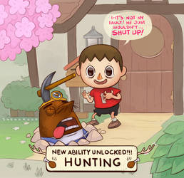 Animal crossing hunter by Sheharzad-Arshad