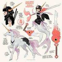 Unicorn Mermaid Ninja Princess