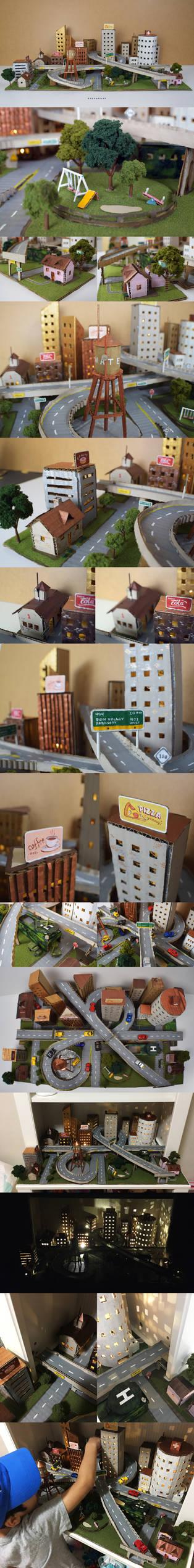 Cardboard play city