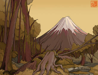 Mt Fuji layout design by Sheharzad-Arshad