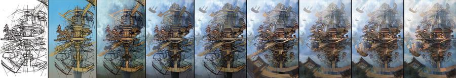 sky city-11 by wanbao