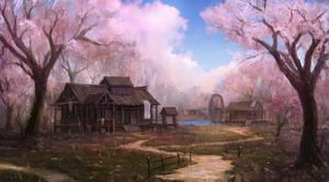 village of peach flower