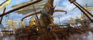 Naval battle by wanbao