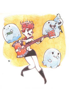 Marceline nd the ghost buddies