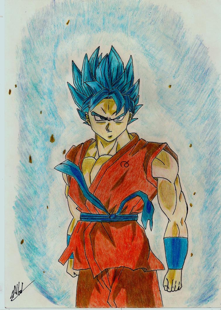 Goku SS Blue by Husky112