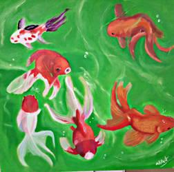 Fish pond by Husky112