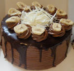 Chocolate Banana Devils Cake