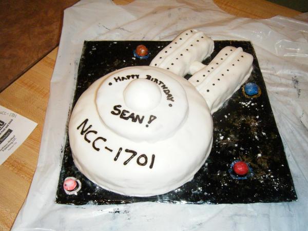 Star Trek Enterprise Birthday Cake