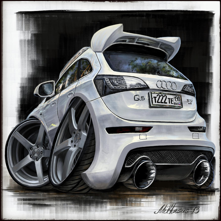 Audi Q Cartoon Cars Series IPad Painting By Mikhasus On DeviantArt - Audi car series