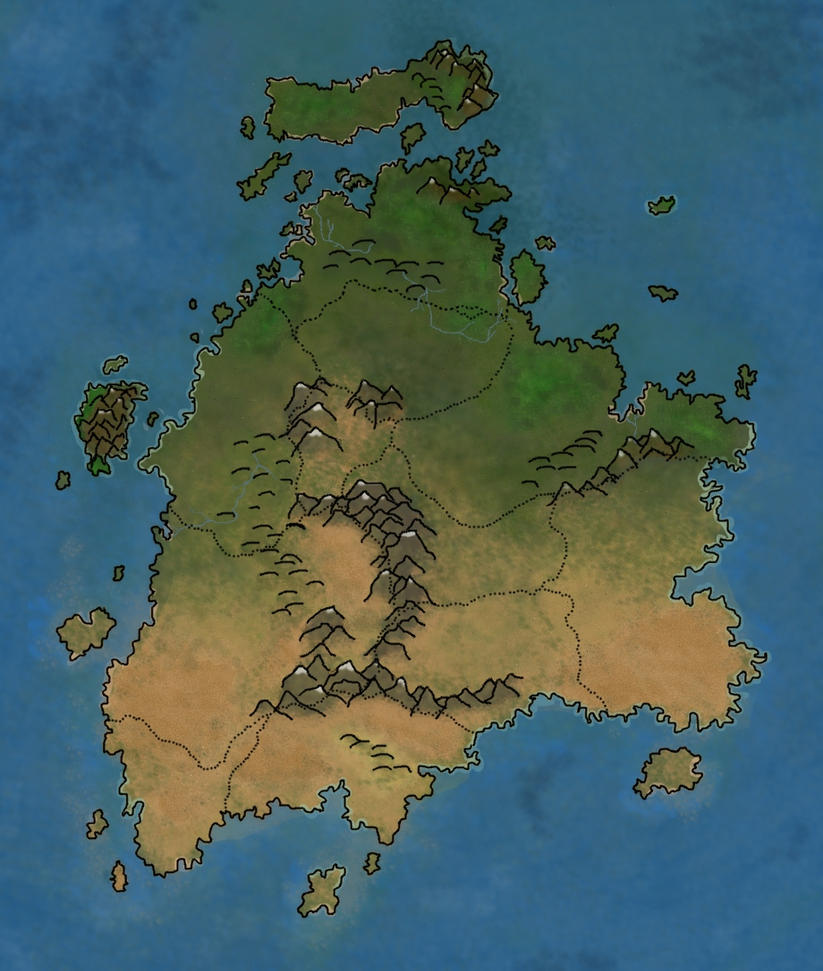 Continent Map Terrain WIP by JesseZafiro