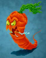 Carnivorous Carrot by dragynsart