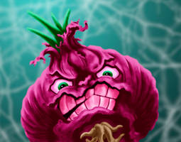 Raging Red Onion by dragynsart
