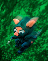 Ninja Piglet by dragynsart