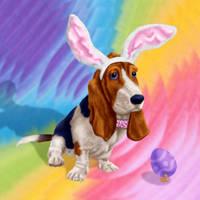 Basset Bunny by dragynsart