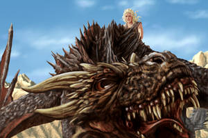 daenerysDragon by dragynsart