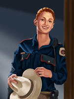 Officer Haught by dragynsart