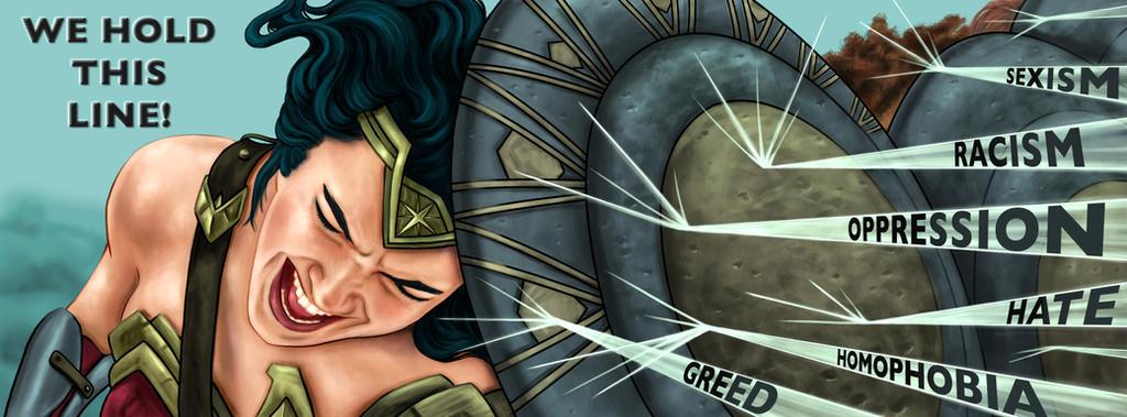 Wonder Woman banner by dragynsart