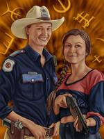 Gay Girls With Guns by dragynsart