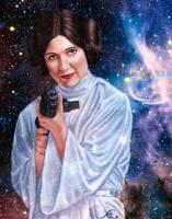 Leia Tribute by dragynsart