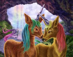 Unicorns by dragynsart