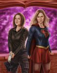 Supergirl and Agent Danvers