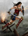 wonder woman battle
