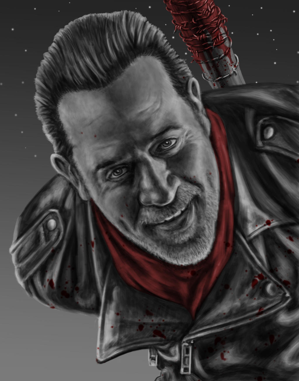 Negan by dragynsart