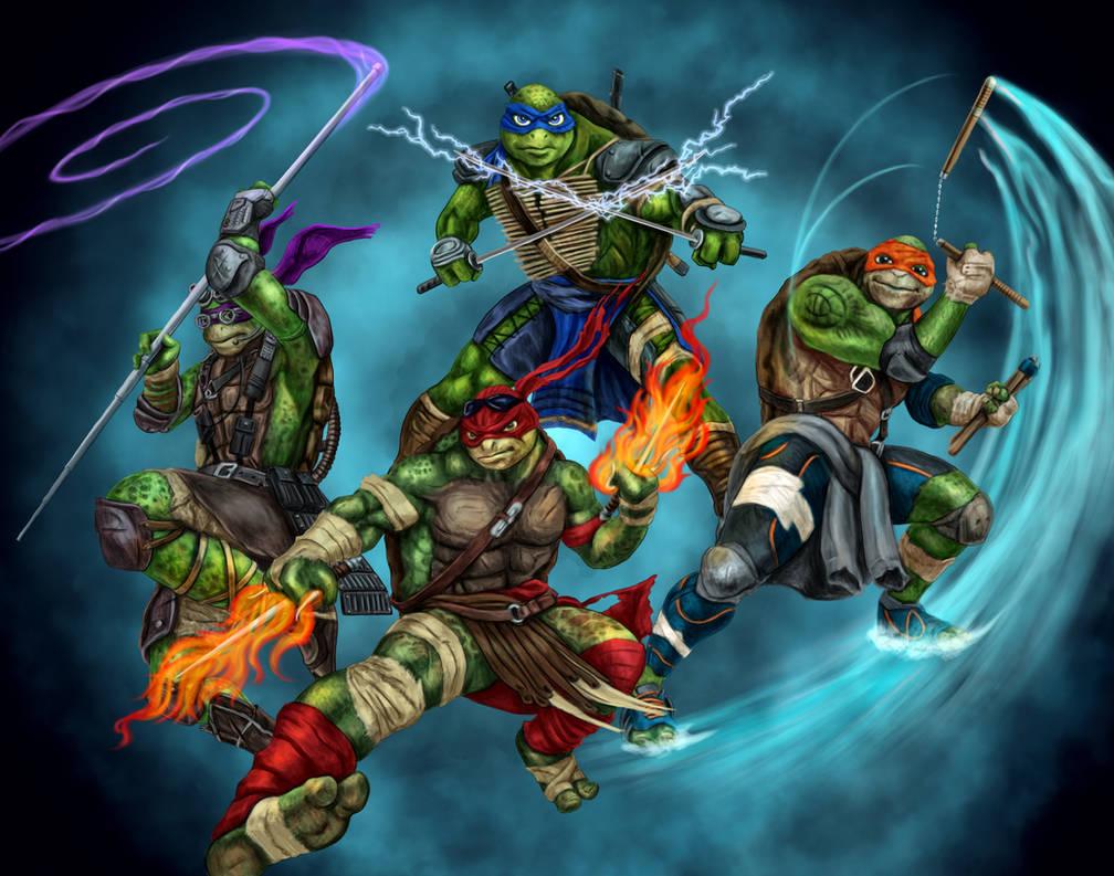 TMNT Elementals by dragynsart