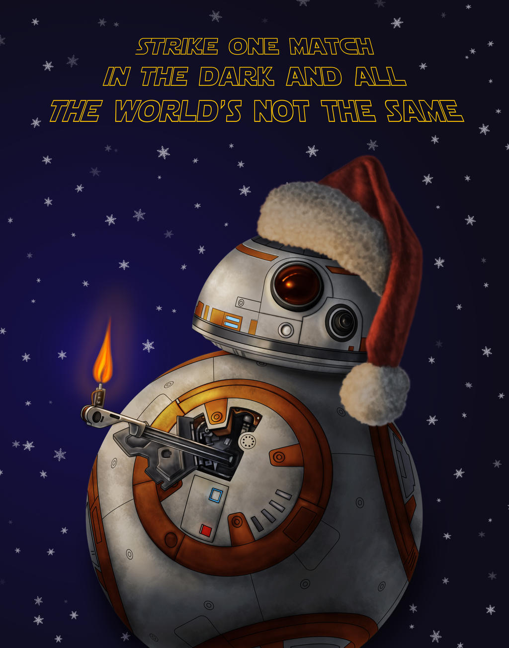 BB8 Holiday by dragynsart