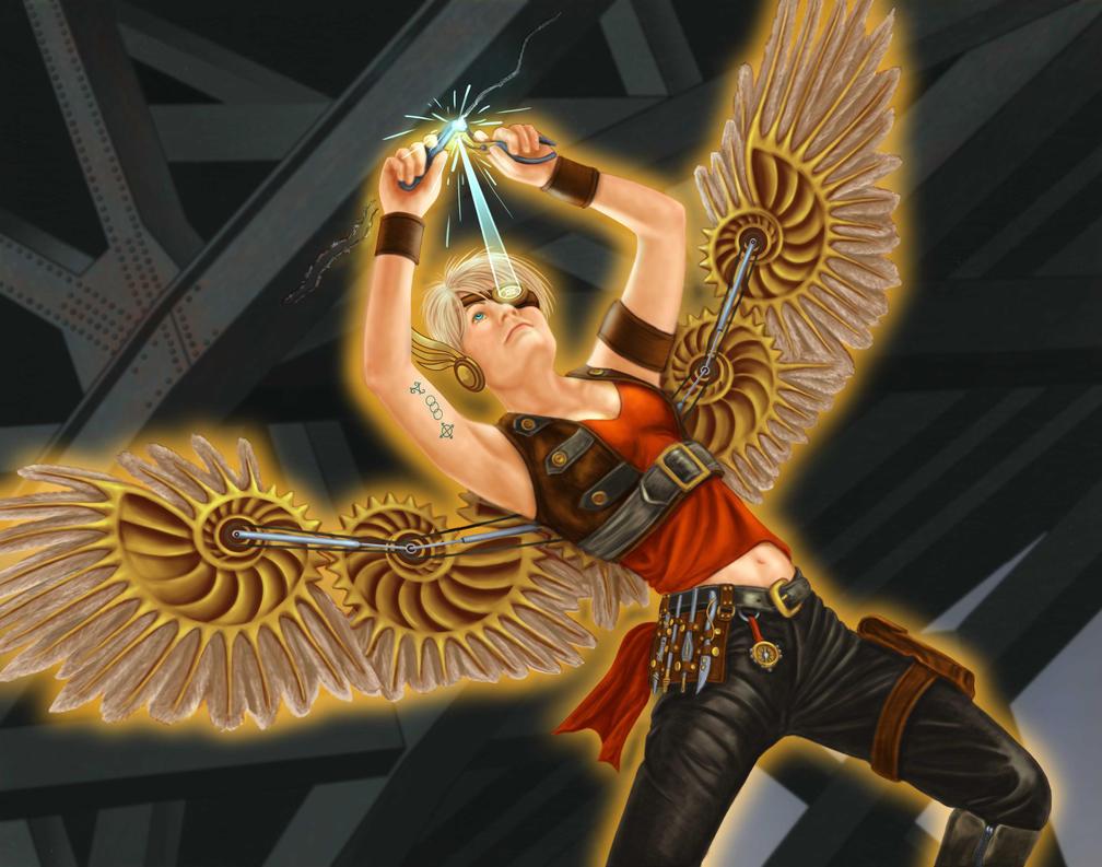 steampunk angel by dragynsart