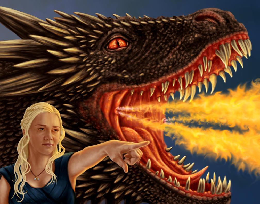 Daenerys by dragynsart