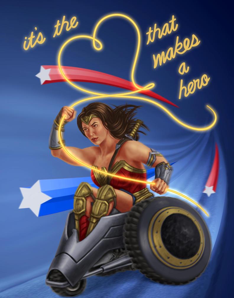 Wonder Woman Heart by dragynsart